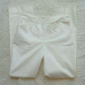 Lafayette 148 White Ankle Casual Dress Pants